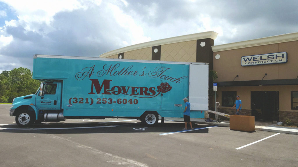 A Mother's Touch Movers Providing Commercial Moving Services For Retail Client